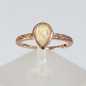 18k Over Sterling Opal Ring